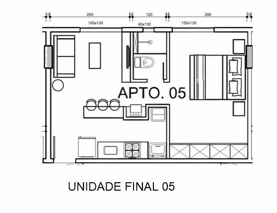 Foto Apartamento de 1 quarto à venda no Buritis em Belo Horizonte - Imagem