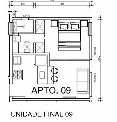 Foto Apartamento de 1 quarto à venda no Buritis em Belo Horizonte - Imagem 08