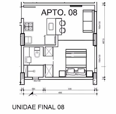 Foto Apartamento de 1 quarto à venda no Buritis em Belo Horizonte - Imagem 09