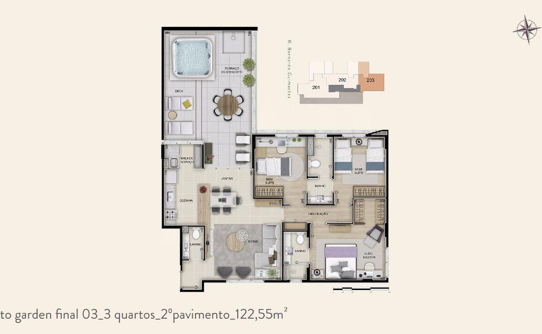 Foto Apartamento de 3 quartos à venda no Funcionários em Belo Horizonte - Imagem