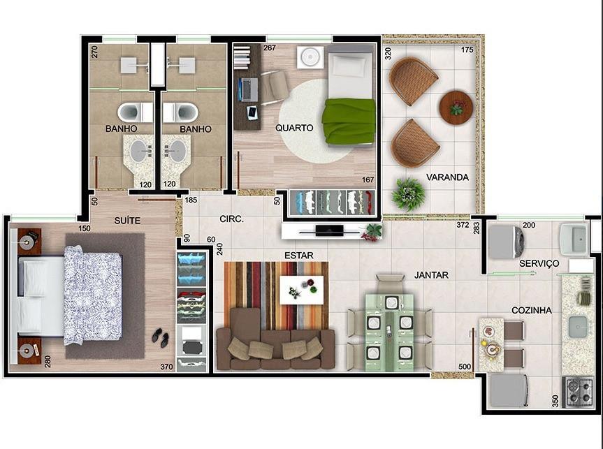 Foto Apartamento de 2 quartos à venda no Paquetá em Belo Horizonte - Imagem 09