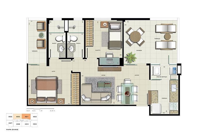 Foto Apartamento de 2 quartos à venda no Paquetá em Belo Horizonte - Imagem