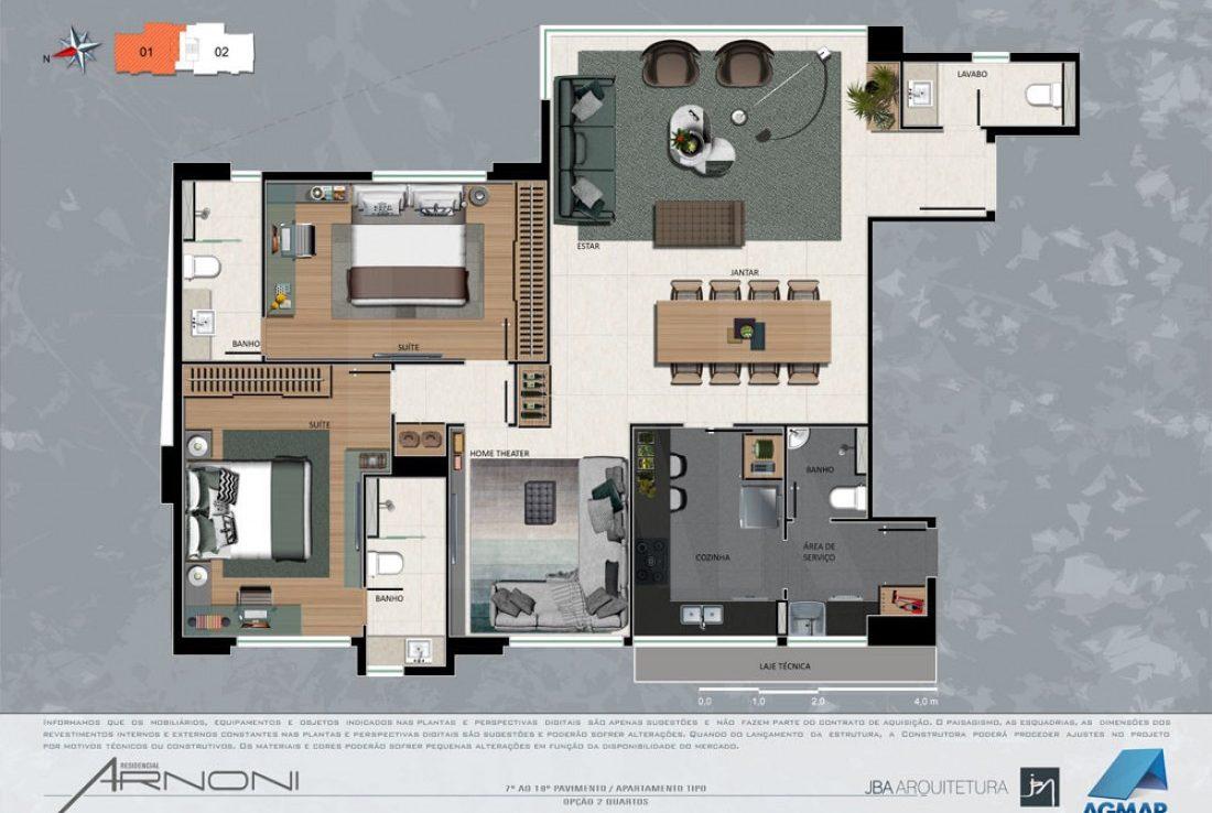 Foto Apartamento de 3 quartos à venda na Savassi em Belo Horizonte - Imagem 06