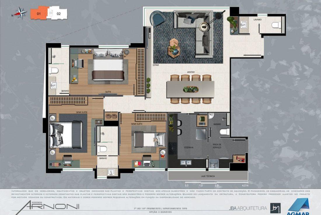 Foto Apartamento de 3 quartos à venda na Savassi em Belo Horizonte - Imagem 09