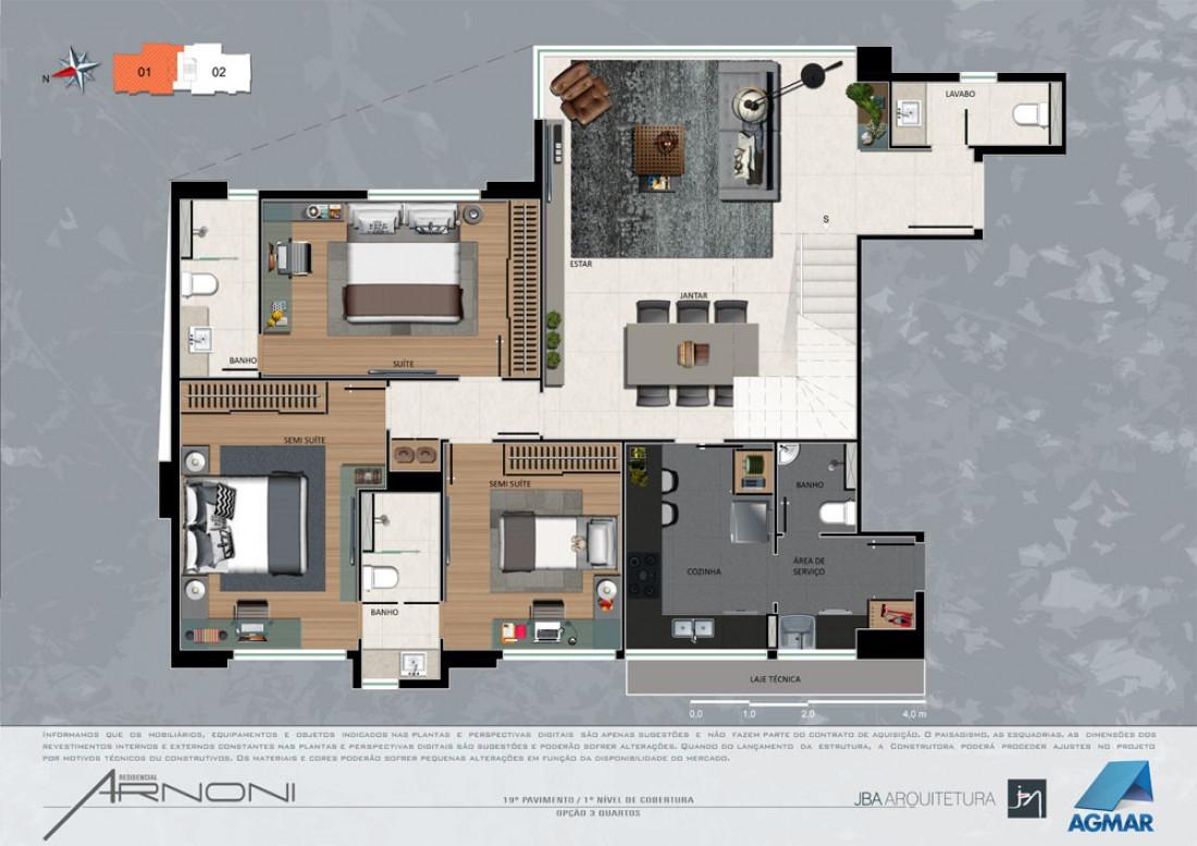 Foto Cobertura de 3 quartos à venda na Savassi em Belo Horizonte - Imagem 01