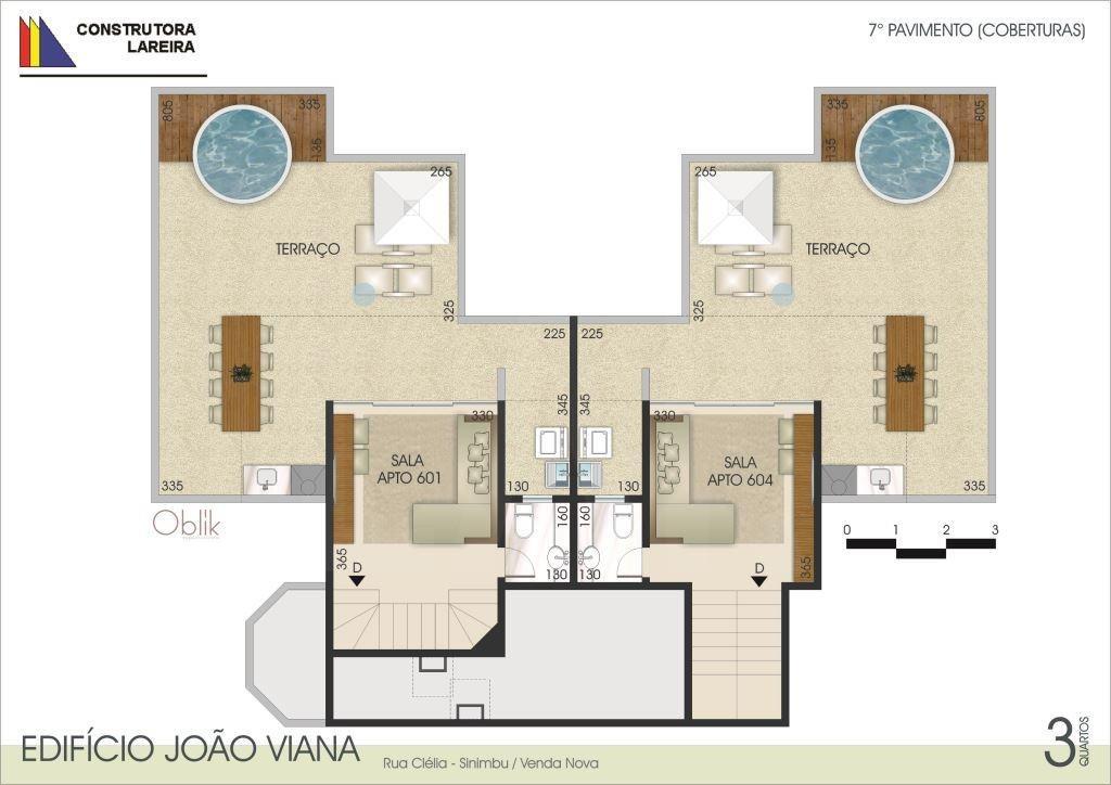Foto Apartamento de 3 quartos à venda no Santa Mônica em Belo Horizonte - Imagem 09