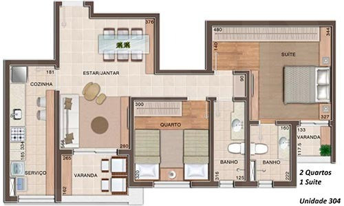 Foto Apartamento de 2 quartos à venda no Vila da Serra em Nova Lima - Imagem
