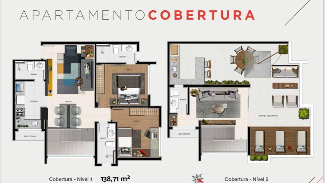 Foto Cobertura de 2 quartos à venda no Cruzeiro em Belo Horizonte - Imagem