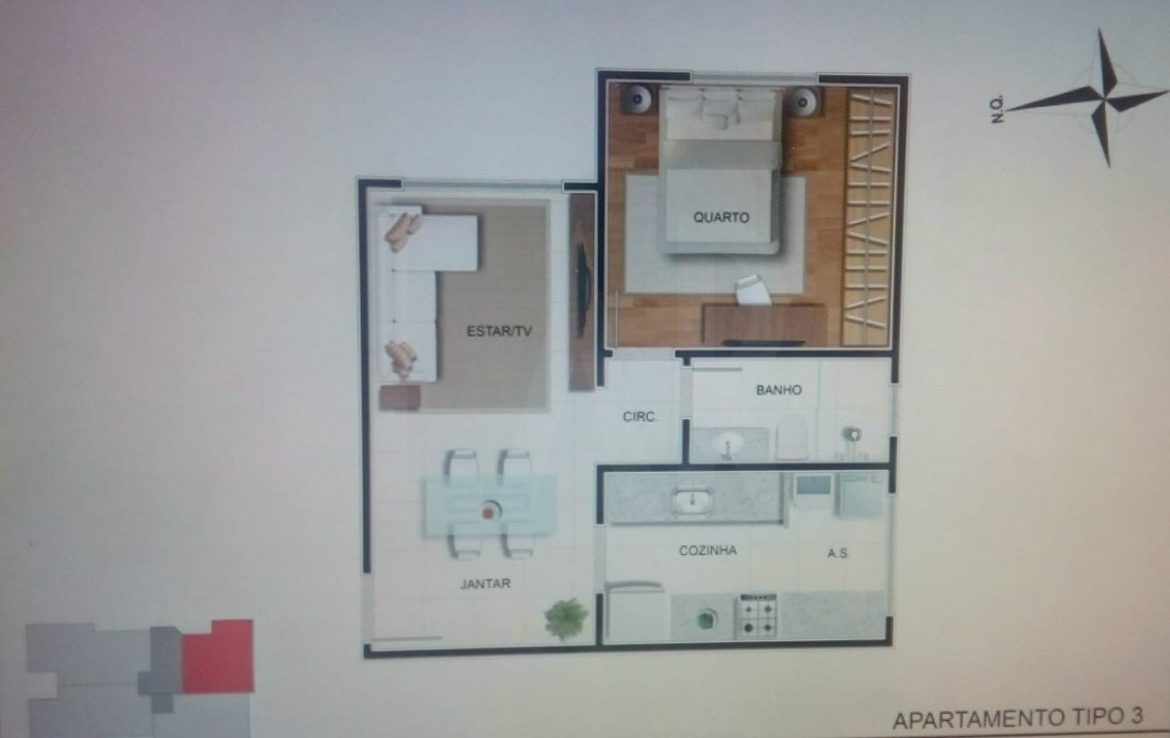 Foto Apartamento de 2 quartos à venda no Sagrada Família em Belo Horizonte - Imagem 05
