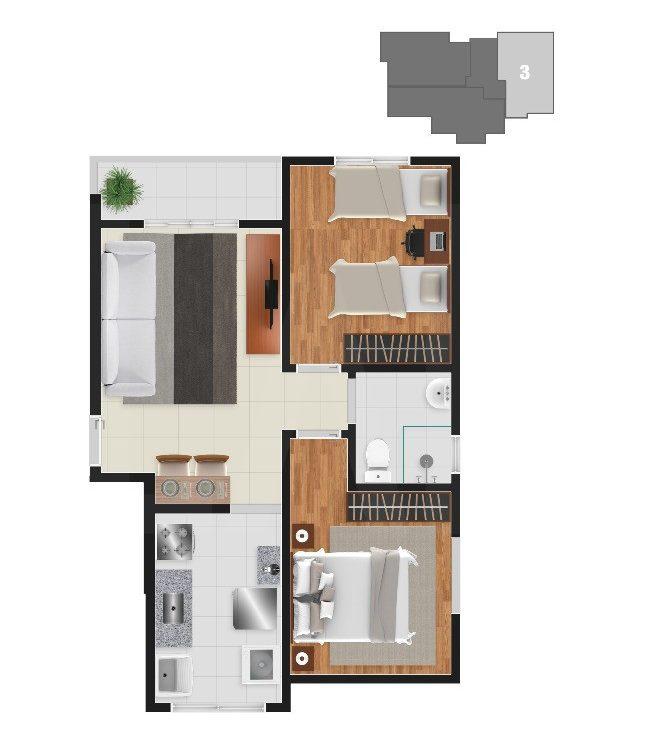 Foto Apartamento de 2 quartos à venda no Gutierrez em Belo Horizonte - Imagem 07