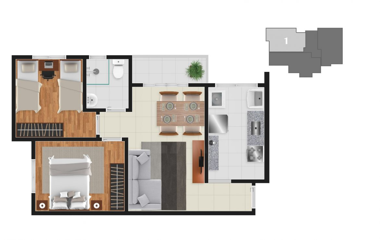 Foto Apartamento de 2 quartos à venda no Gutierrez em Belo Horizonte - Imagem 08