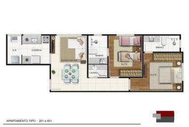 Foto Apartamento de 2 quartos à venda no Gutierrez em Belo Horizonte - Imagem 01