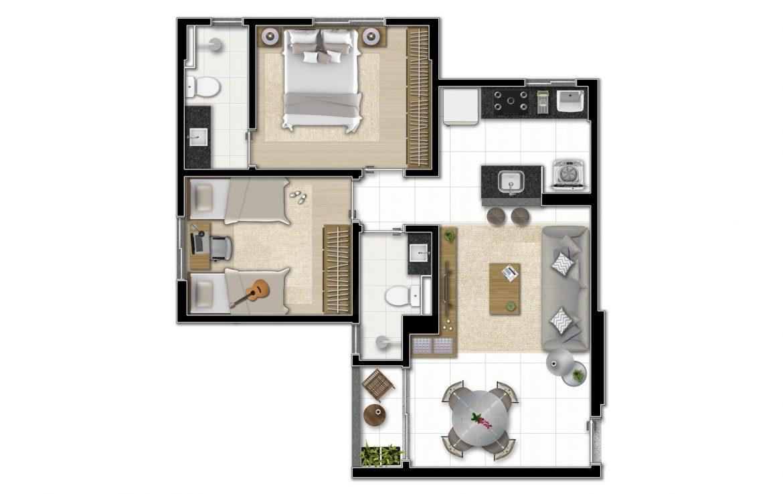 Foto Apartamento de 2 quartos à venda no Buritis em Belo Horizonte - Imagem 06