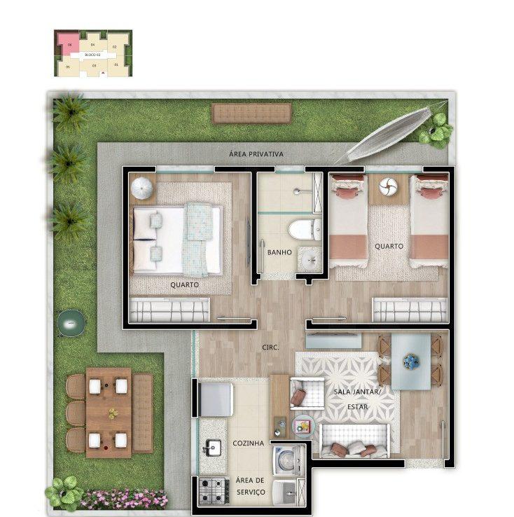 Foto Apartamento de 2 quartos à venda em Venda Nova em Belo Horizonte - Imagem 02