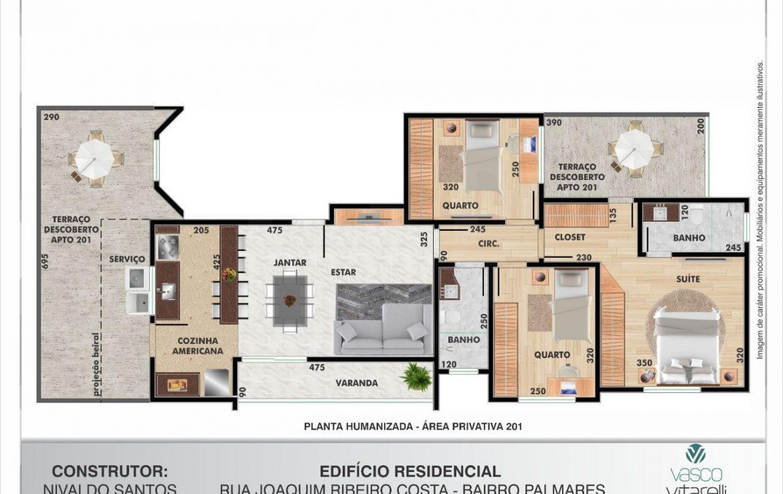Foto Apartamento de 3 quartos à venda no Palmares em Belo Horizonte - Imagem 05