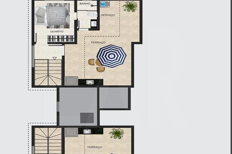 Foto Cobertura de 3 quartos à venda no Santa Branca em Belo Horizonte - Imagem