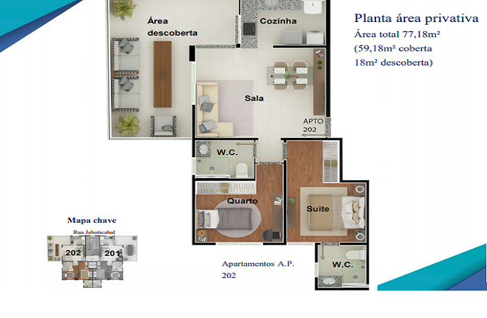 Foto Apartamento de 2 quartos à venda no Nova Granada em Belo Horizonte - Imagem 02