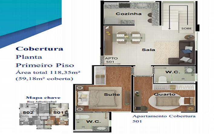 Foto Apartamento de 2 quartos à venda no Nova Granada em Belo Horizonte - Imagem