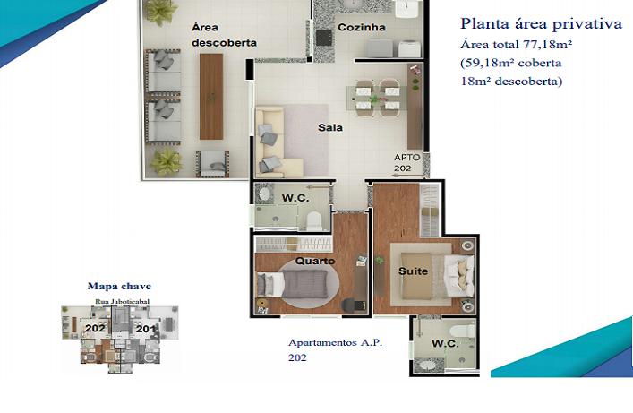 Foto Apartamento de 2 quartos à venda no Nova Granada em Belo Horizonte - Imagem 04