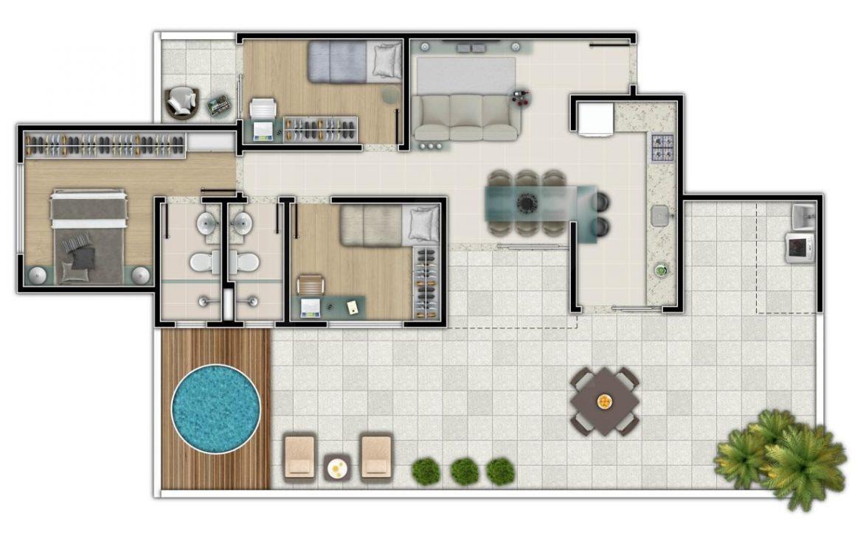 Foto Apartamento de 3 quartos à venda no Salgado Filho em Belo Horizonte - Imagem 03