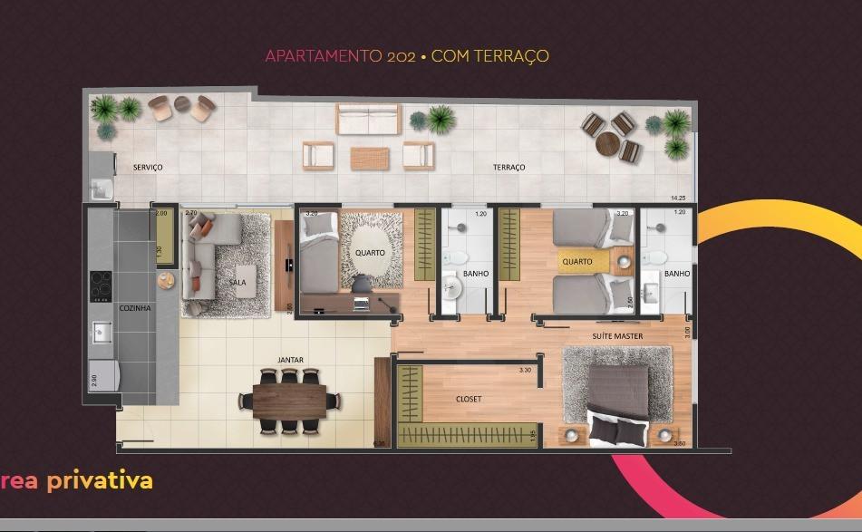 Foto Apartamento de 3 quartos à venda no OURO PRETO em Belo Horizonte - Imagem 02
