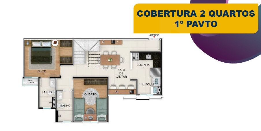 Foto Apartamento de 3 quartos à venda no Nova Suíssa em Belo Horizonte - Imagem