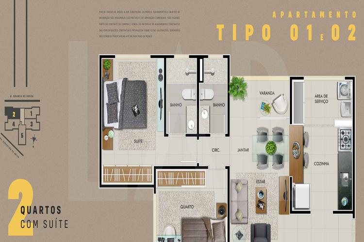 Foto Apartamento de 2 quartos à venda no Dona Clara em Belo Horizonte - Imagem