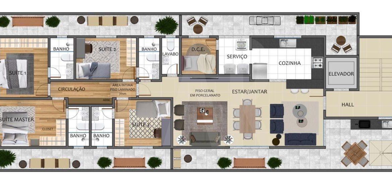 Foto Apartamento de 4 quartos à venda no São Lucas em Belo Horizonte - Imagem 02