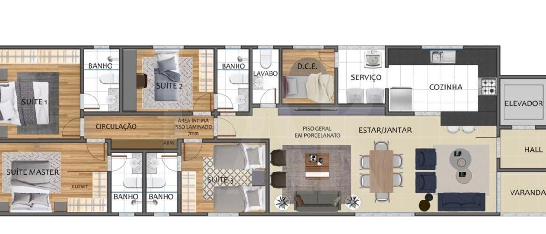 Foto Apartamento de 4 quartos à venda no São Lucas em Belo Horizonte - Imagem 03