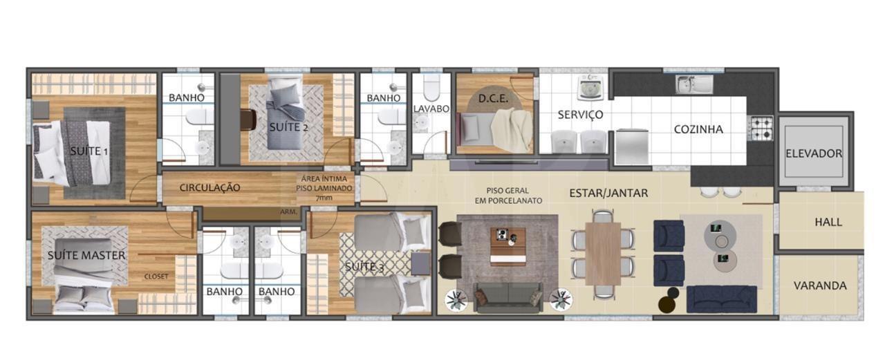 Foto Apartamento de 4 quartos à venda no São Lucas em Belo Horizonte - Imagem 04