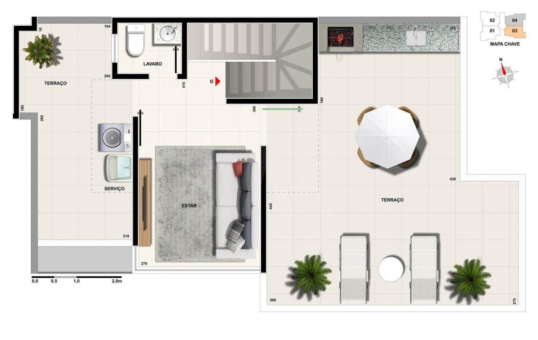 Foto Apartamento de 2 quartos à venda na CIDADE NOVA em Belo Horizonte - Imagem 02