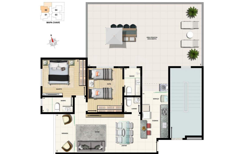 Foto Apartamento de 2 quartos à venda na CIDADE NOVA em Belo Horizonte - Imagem 07