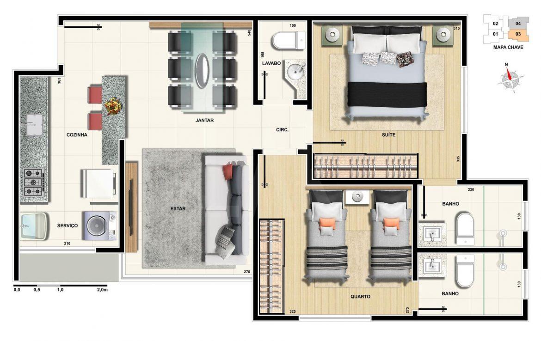 Foto Apartamento de 2 quartos à venda na CIDADE NOVA em Belo Horizonte - Imagem 09