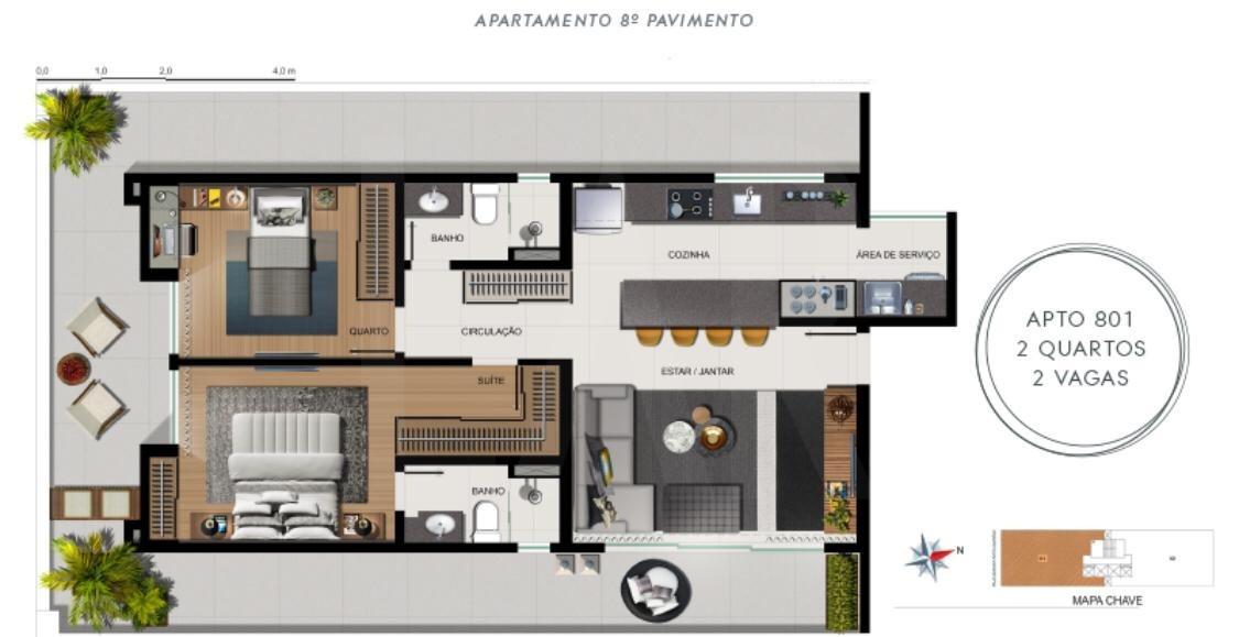 Foto Apartamento de 2 quartos à venda no Funcionários em Belo Horizonte - Imagem 02