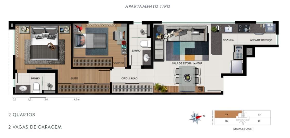 Foto Apartamento de 2 quartos à venda no Funcionários em Belo Horizonte - Imagem 03