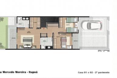 Foto Casa Geminada de 3 quartos à venda no Itapoã em Belo Horizonte - Imagem 01