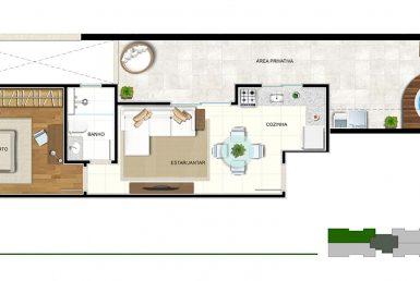 Foto Apartamento de 1 quarto à venda no Sagrada Família em Belo Horizonte - Imagem 01