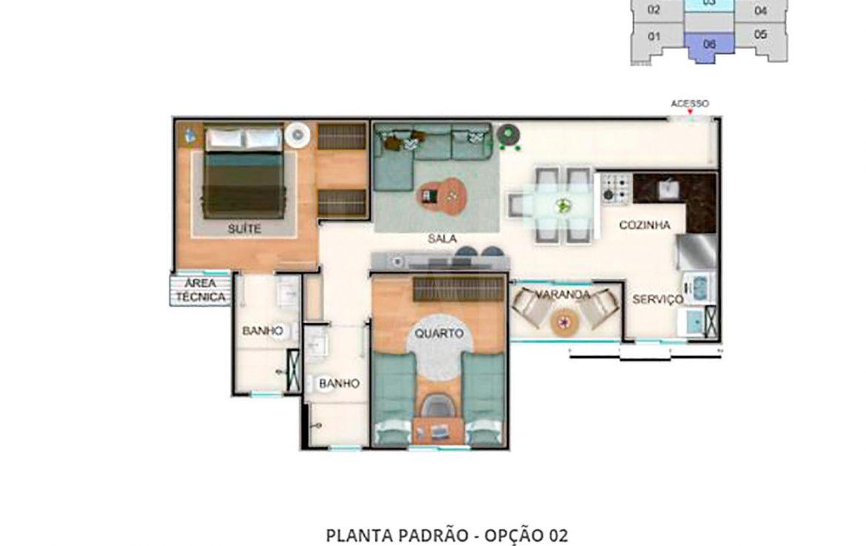 Foto Apartamento de 3 quartos à venda no Nova Granada em Belo Horizonte - Imagem 04