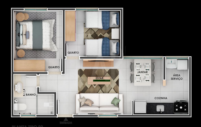 Foto Apartamento de 2 quartos à venda no Estoril em Belo Horizonte - Imagem