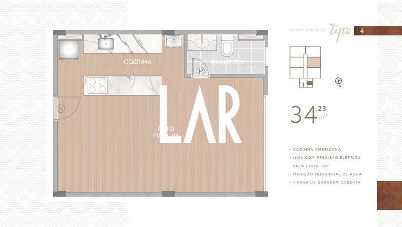 Foto Apartamento de 1 quarto à venda no Boa Viagem em Belo Horizonte - Imagem