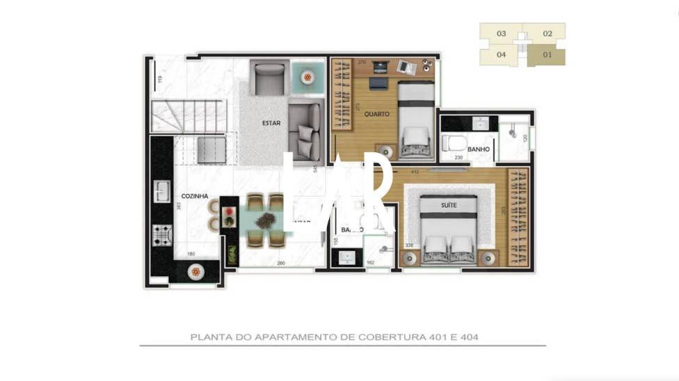 Foto Apartamento de 2 quartos à venda no Buritis em Belo Horizonte - Imagem 08