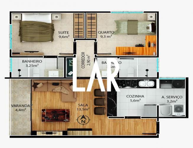 Foto Apartamento de 2 quartos à venda no São Lucas em Belo Horizonte - Imagem 09