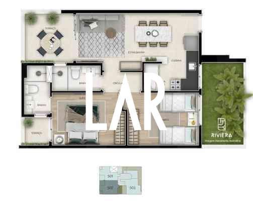 Foto Apartamento de 2 quartos à venda no Lourdes em Belo Horizonte - Imagem