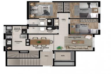 Foto Apartamento de 3 quartos à venda no Castelo em Belo Horizonte - Imagem 01